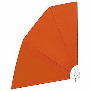 Skladacia zástena proti vetru 210 x 210 cm Tehlová vyobraziť