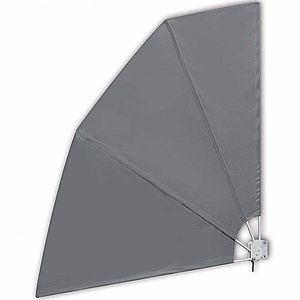 Skladacia zástena proti vetru 210 x 210 cm Sivá vyobraziť