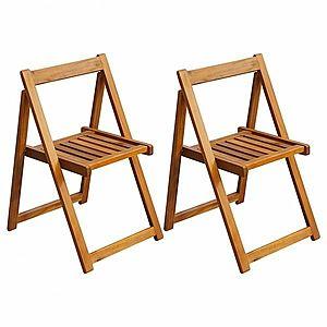 Skladacia záhradná stolička 2 ks hnedá vyobraziť