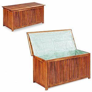 Záhradný úložný box akáciové drevo vyobraziť