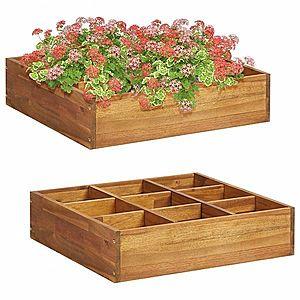 Záhradný kvetináč na bylinky z akáciového dreva vyobraziť