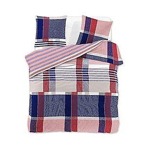 Povlečení z bavlny + 2 povlaky DecoKing Eriga červeno-modré vyobraziť