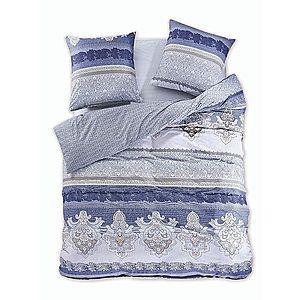 Povlečení z bavlny DecoKing Gelia modro-šedé vyobraziť