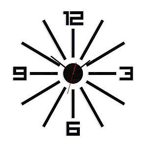 3D nalepovacie hodiny Sheen čierne vyobraziť