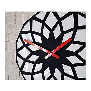 Nástěnné hodiny Lotos černo-červené vyobraziť