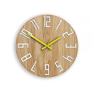 Nástěnné hodiny Slim hnědé vyobraziť