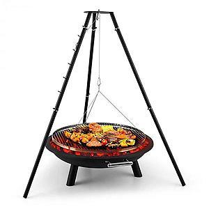 Blumfeldt Arco Trino, otočný gril, ohnisko, BBQ, trojnožka, nerezová oceľ vyobraziť