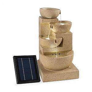 Blumfeldt Korinth, záhradná fontána, solárny panel, 3 W, LED, pieskovcová optika vyobraziť