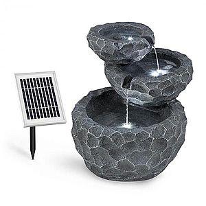 Blumfeldt Murach, solárna kaskádová fontána, akumulátorová prevádzka, 2 W, solárny panel, 3x LED vyobraziť