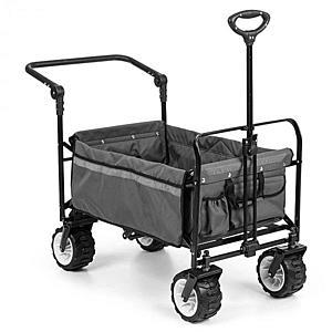 Waldbeck Easy Rider, ťahací vozík, do 70 kg, teleskopická tyč, sklopný, sivý vyobraziť