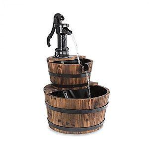 Blumfeldt Cascada Doble, okrasná fontána, 2 poschodia, 12 W, 600 l/h, drevo, hnedá vyobraziť