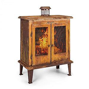 Blumfeldt Flame Locker, ohnisko, vintage záhradný krb, 58 x 30 cm, oceľ, hrdzavý vzhľad vyobraziť