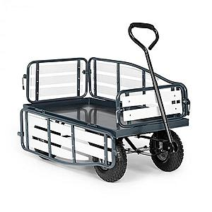 Waldbeck Ventura, ručný vozík, maximálna záťaž 300 kg, oceľ, WPC, čierny vyobraziť