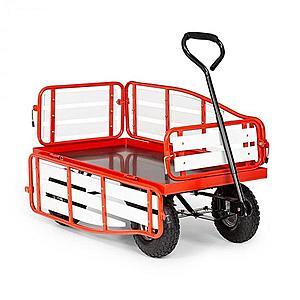 Waldbeck Ventura, ručný vozík, maximálna záťaž 300 kg, oceľ, WPC, červený vyobraziť