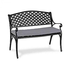Blumfeldt Pozzilli BL, záhradná lavička & podložka na sedenie, čiena/sivá vyobraziť