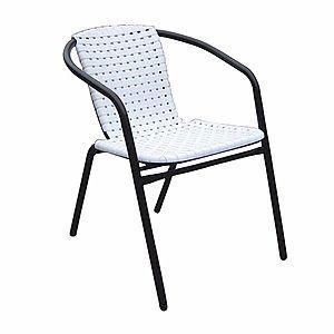 Záhradní židle, stohovatelná, bílá / černá, BERGOLA 0000194799 Tempo Kondela vyobraziť