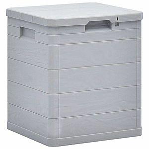 Záhradný úložný box 90 l Dekorhome Sivá vyobraziť
