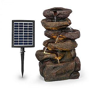 Blumfeldt Savona, solárna fontána, 2, 8 W, polyresin, 5 hod., akumulátor, LED osvetlenie, vzhľad kameňa vyobraziť