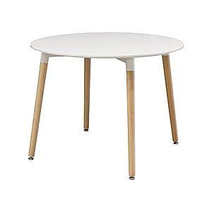 Jedálenský stôl priemer 100 UNO biely vyobraziť