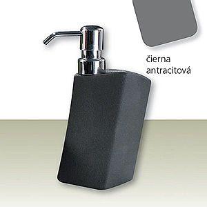 IVAB DEVA - Dávkovač tekutého mydla voľne stojaci, gres čierna IBDEV03 vyobraziť