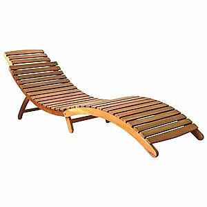 Záhradné ležadlo skladacie akáciové drevo vyobraziť