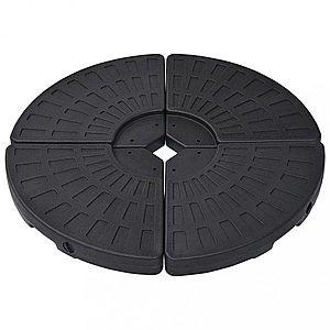 Stojan na slnečník v tvare vejára 4 ks čierna Dekorhome vyobraziť
