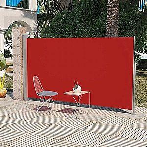 Zaťahovací bočná markíza 160x300 cm Dekorhome Červená vyobraziť