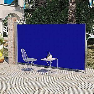 Zaťahovací bočná markíza 160x300 cm Dekorhome Modrá vyobraziť