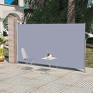Zaťahovací bočná markíza 160x300 cm Dekorhome Sivá vyobraziť
