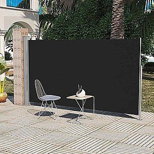 Zaťahovací bočná markíza 160x300 cm Dekorhome Čierna vyobraziť