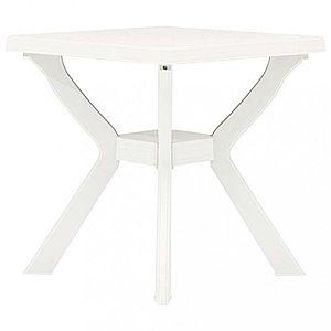 Záhradný bistro stolík plast Dekorhome Biela vyobraziť