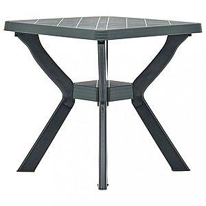 Záhradný bistro stolík plast Dekorhome Zelená vyobraziť