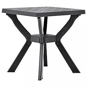 Záhradný bistro stolík plast Dekorhome Antracit vyobraziť