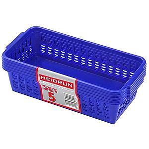 heidrun Plastový košík HEIDRUN 20, 5x10x6, 5cm 5ks vyobraziť