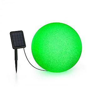 Blumfeldt Shinestone Solar 40, guľová lampa, solárny panel, Ø 40 cm, RGB-LED, IP68, akumulátor vyobraziť