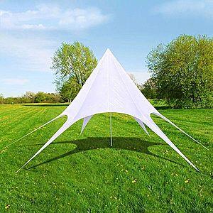 Hviezdicový party stan 10 m biela Dekorhome vyobraziť