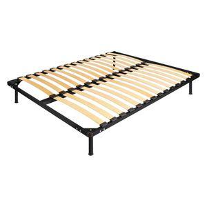 Kovová posteľ AMERIKA 140x200 čierna vyobraziť