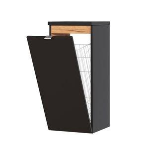 ArtCom Kúpeľňová zostava Capri Cosmos | čierny mat Capri Cosmos | čierny mat: Nízka spodná skrinka s košom 811 vyobraziť
