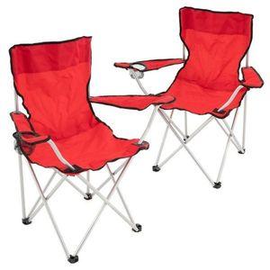 Set červených skladacích kempingových stoličiek vyobraziť