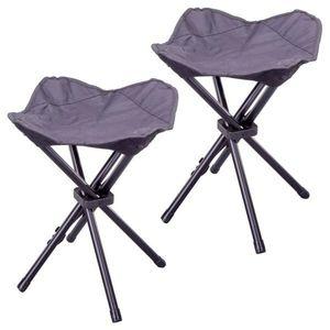 Kempingová stolička trojnožka - 2 kusy vyobraziť