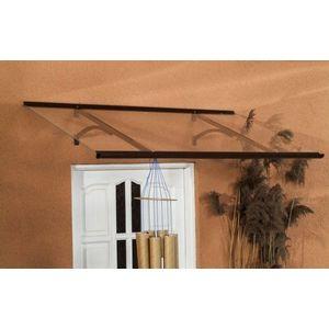 Strieška nad dvere 120/85 hliník / plexisklo Dekorhome Hnedá vyobraziť
