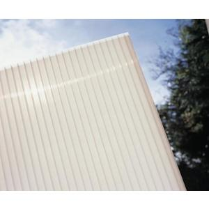 Hliníková pergola 4, 95 x 3 m biela / polykarbonát Dekorhome Mliečna biela (opál) vyobraziť