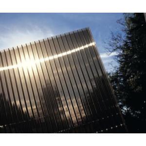 Hliníková pergola 4, 95 x 3 m biela / polykarbonát Dekorhome Dymovo hnedá (bronz) vyobraziť