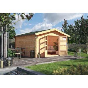 Drevený záhradný domček s podlahou 387 x 297 cm Dekorhome vyobraziť