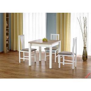Jedálenský rozkladací stôl GRACJAN Halmar Biela / dub sonoma vyobraziť