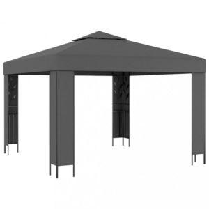 Záhradný altánok s dvojitou strechou 3 x 3 m Dekorhome Antracit vyobraziť