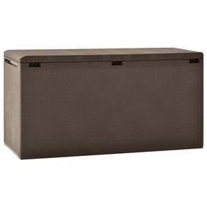 Záhradný úložný box 290l Dekorhome Hnedá vyobraziť