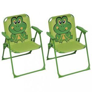 Detské záhradné stoličky 2 ks Dekorhome Zelená vyobraziť