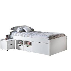 Multifunkčná posteľ TILL 90x200 biely lak vyobraziť