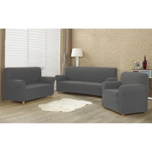 4home Multielastický poťah na sedaciu súpravu Comfort sivá, 180 - 220 cm vyobraziť